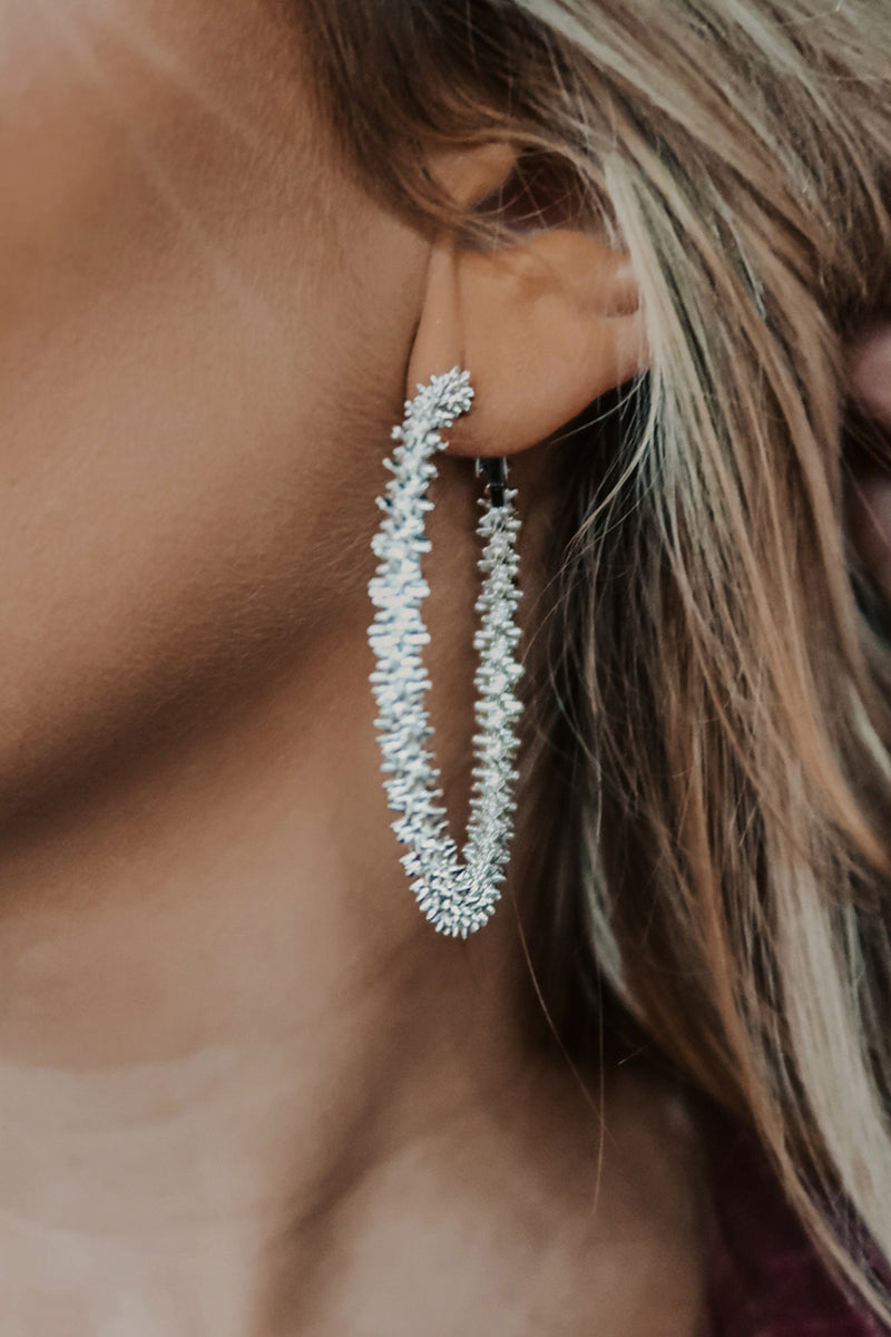 All For This Earrings: Silver