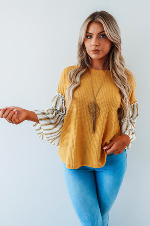 Better With Time Top: Mustard/Multi