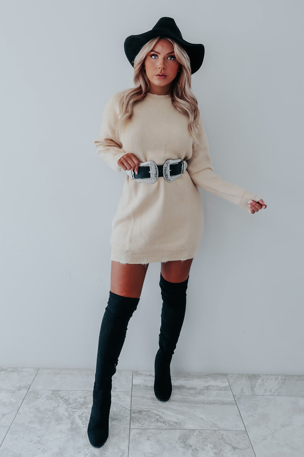 RESTOCK: Come See Me Dress: Beige