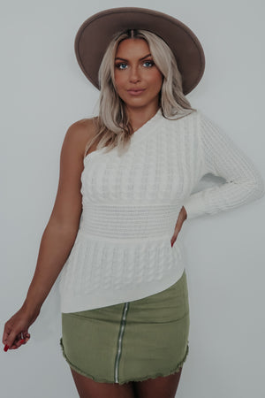 Sending You Love Sweater: Ivory