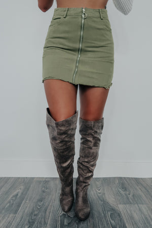 First To Fall Skirt: Olive