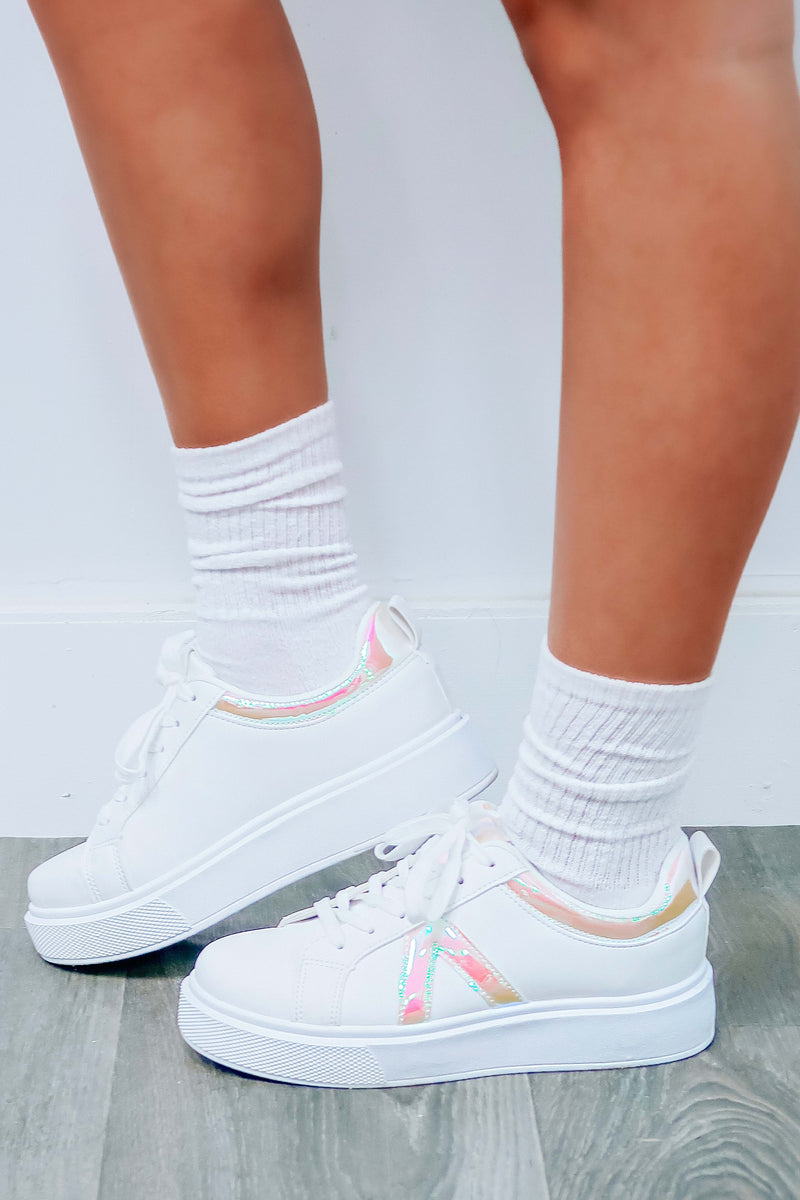 Awesome Choice Sneakers: White/Multi