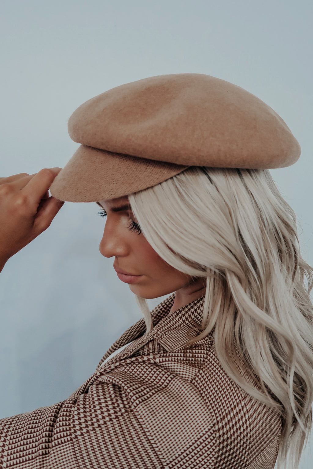 In The City Hat: Tan