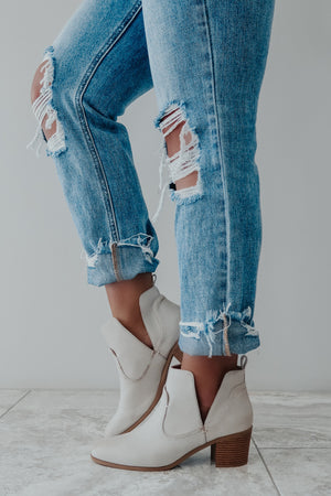 Come & Go Booties: Nude