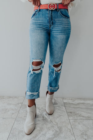 Reach Out Boyfriend Jeans: Denim