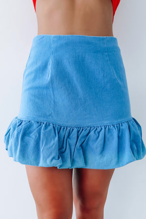 Let Your Light Shine Skirt: Chambray