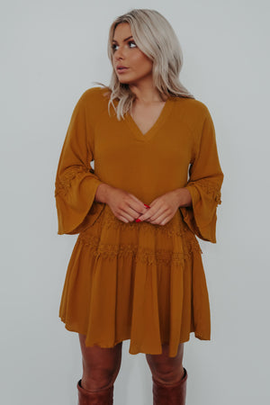 Warm Smiles Dress: Marigold