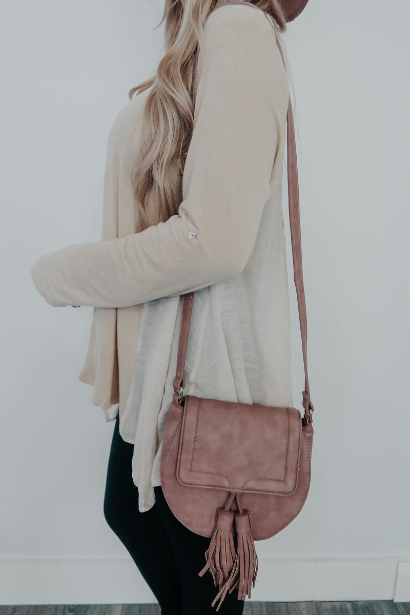 Wherever You Go Purse: Mauve