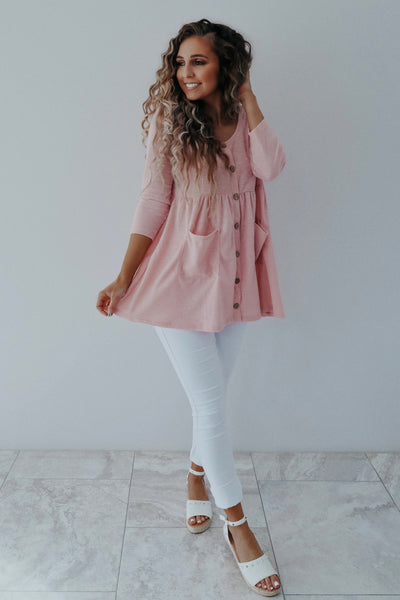 Sweet Talker Tunic: Baby Pink