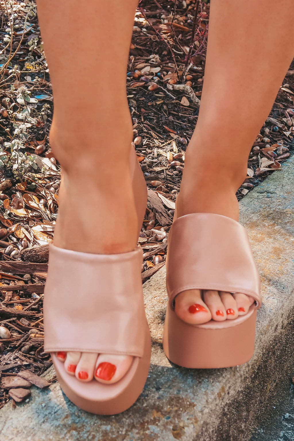 For The Look Wedges: Nude