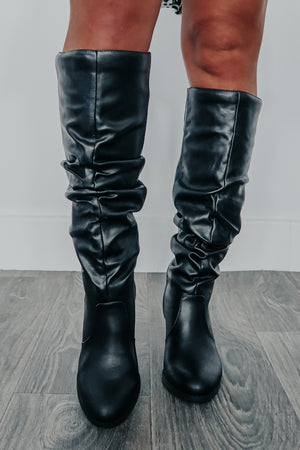 Make A Promise Boots: Black