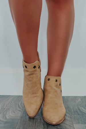 Good As Gone Booties: Tan