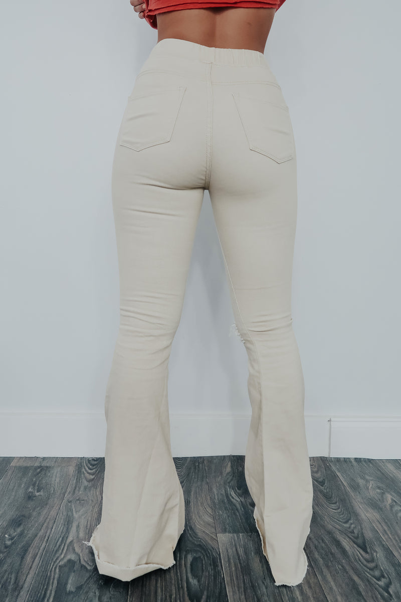 Feeling The Love Pants: Beige