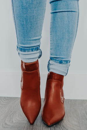 One More Step Booties: Chestnut