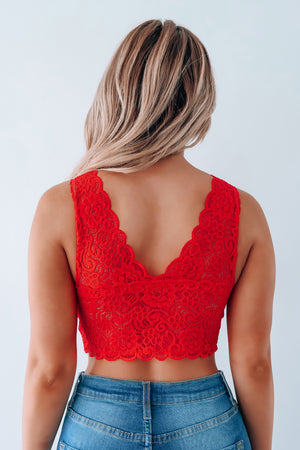 Seek You Out Bralette: Red