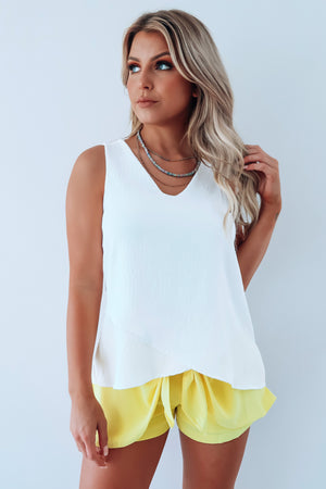 Light Of The Day Tank: White