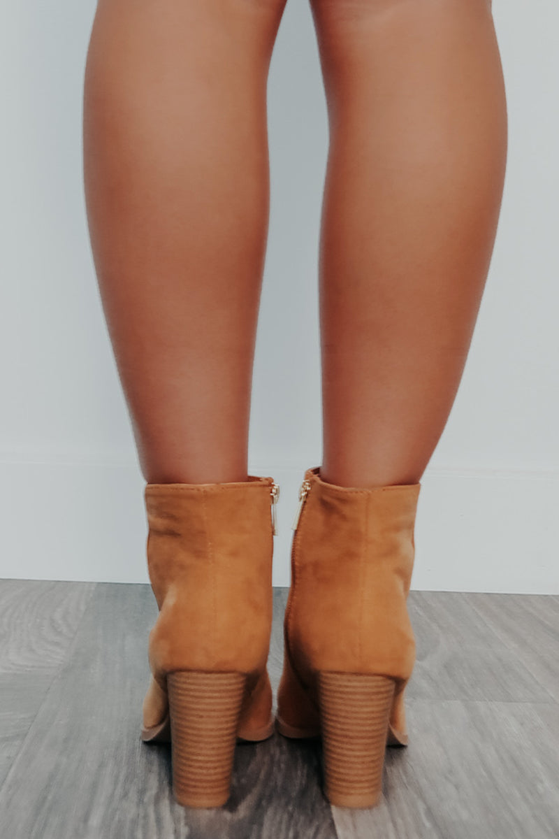 Going Far Booties: Tan