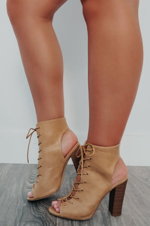 Keep Yours Eyes On Me Heels: Tan