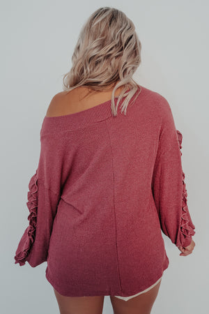 Be Here Forever Sweater: Berry