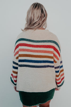 Warms My Heart Sweater: Multi