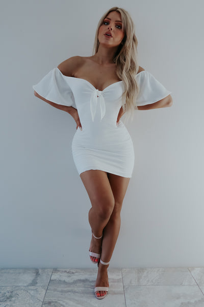 Bows & Kisses Dress: White