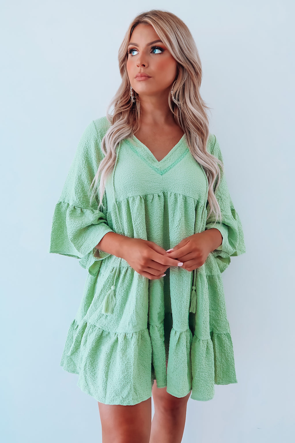 Just Getting Started Dress: Sage