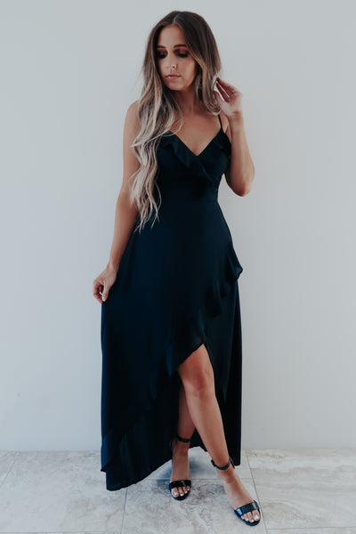 So Into You Dress: Black