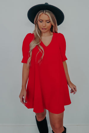 Dawn On Me Dress: Red