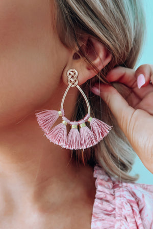 Fit Right In Earrings: Blush/Gold
