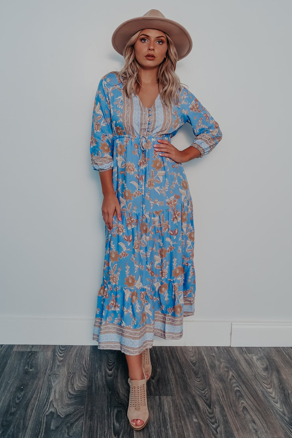 Let It Rain Maxi Dress: Multi