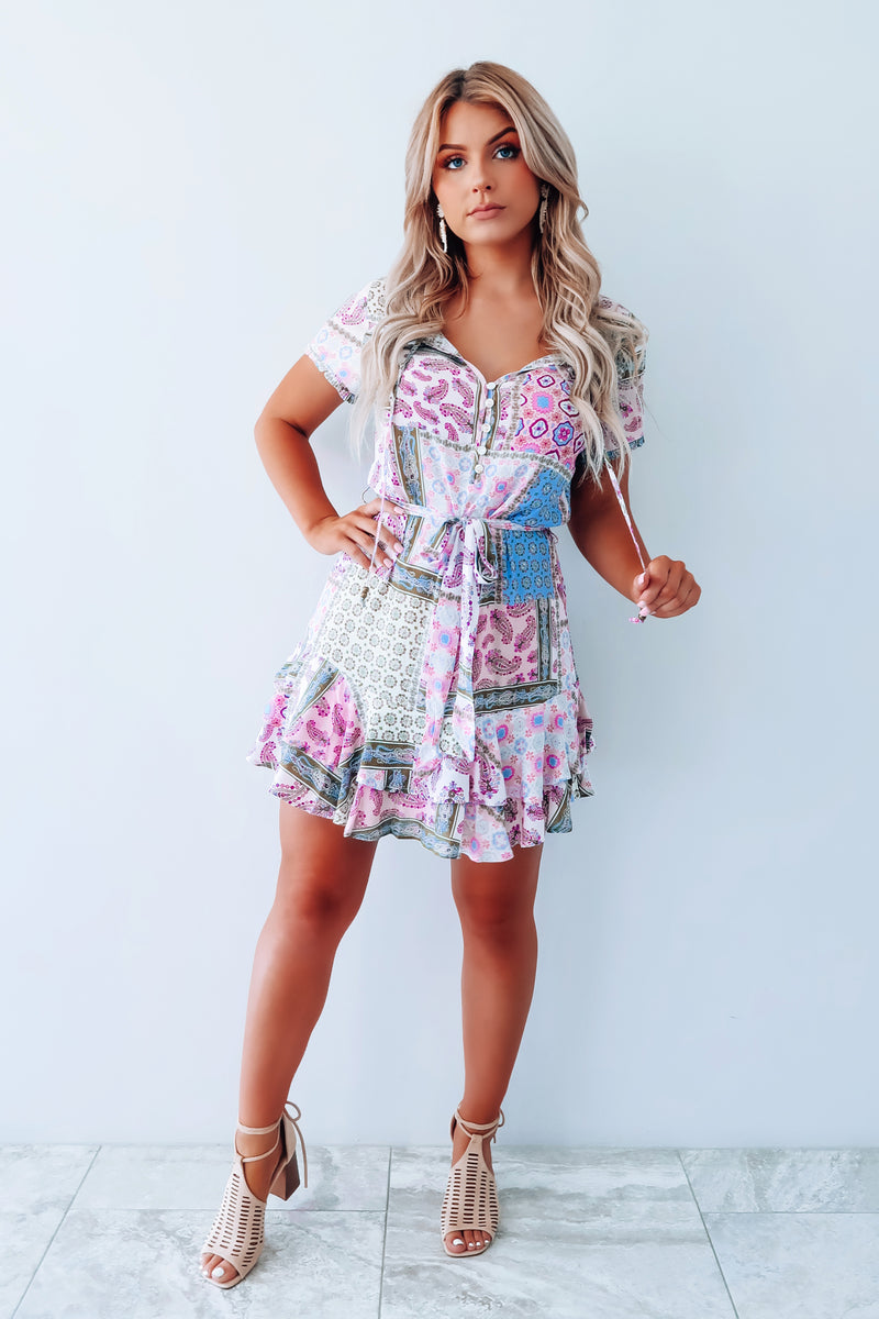 Crazy For Prints Dress: Multi