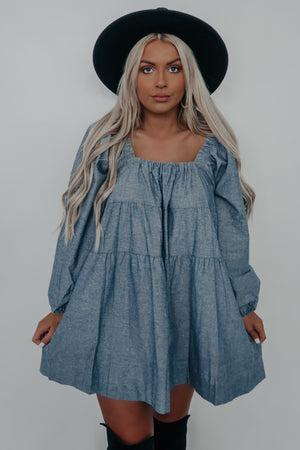 Sweeter In Chambray Dress