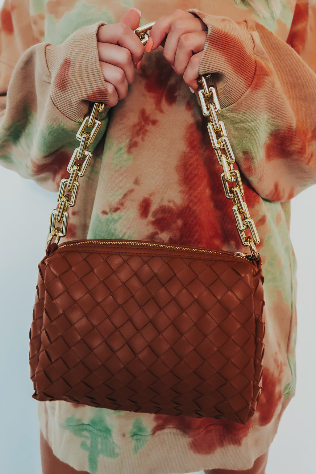 The Only One Purse: Camel/Gold