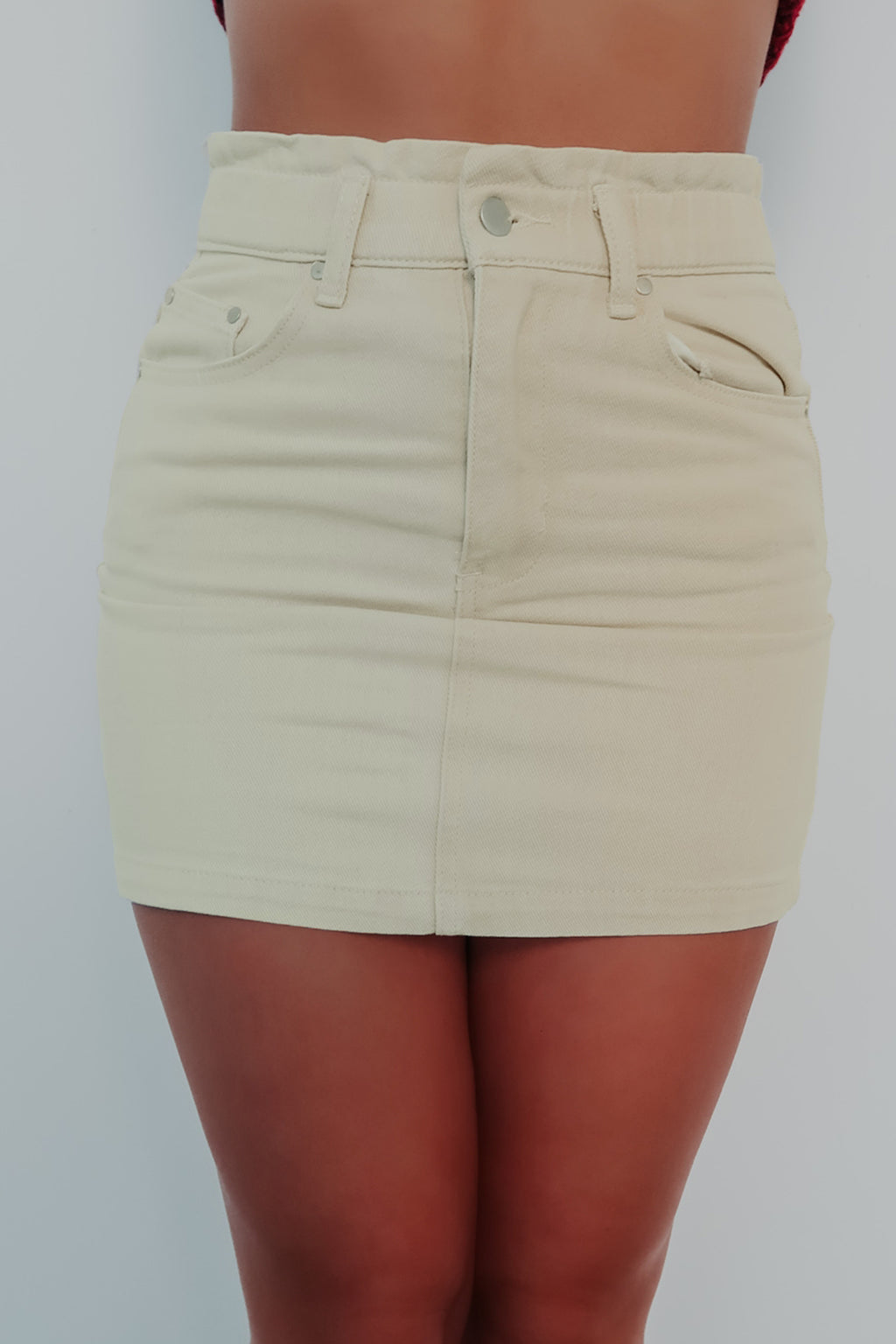RESTOCK: Chill Of The Night Skirt: Beige