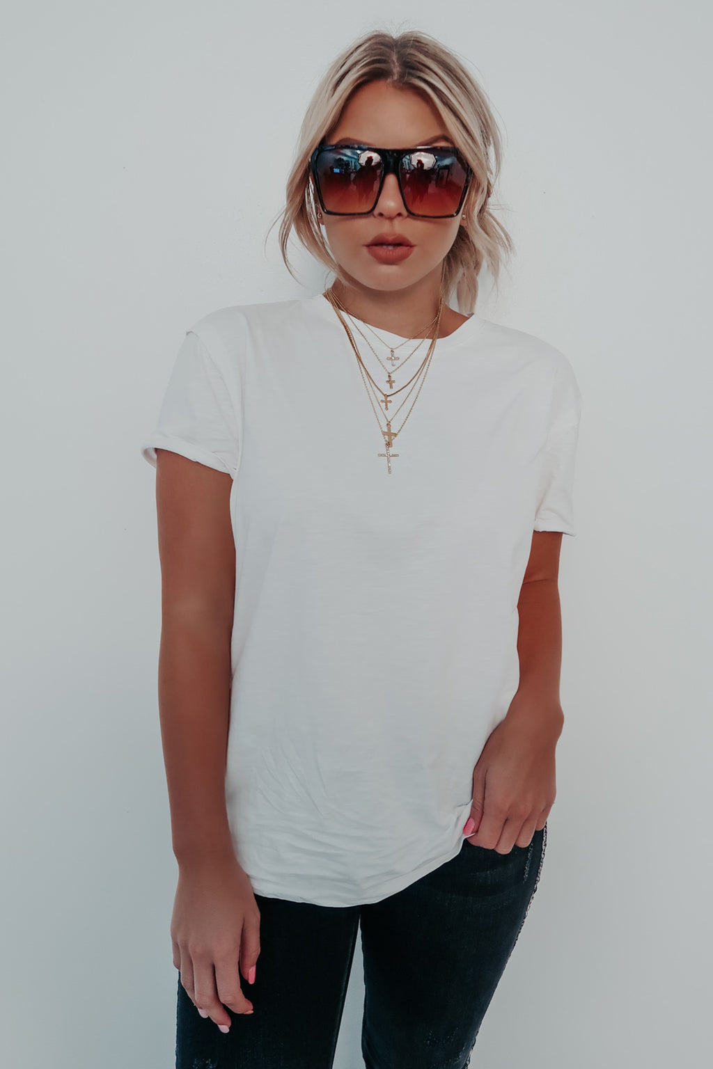 Perfect Match Basic Tee: White