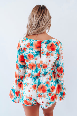 Summer Blooms Romper: Multi