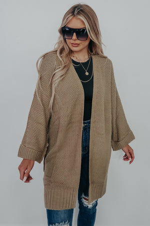 Made With Love Cardigan: Mocha
