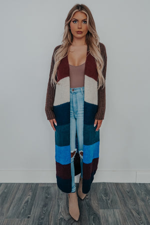 Color Block Cutie Cardigan: Multi