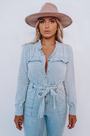 Stealing Your Heart Jumper: Light Denim