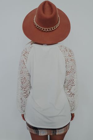 All Laced Up Top: White