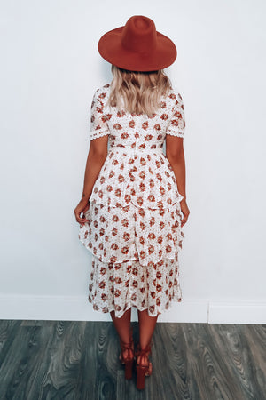 Bring You Flowers Midi Dress: Multi