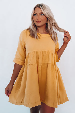 On The Open Road Dress: Honey Gold
