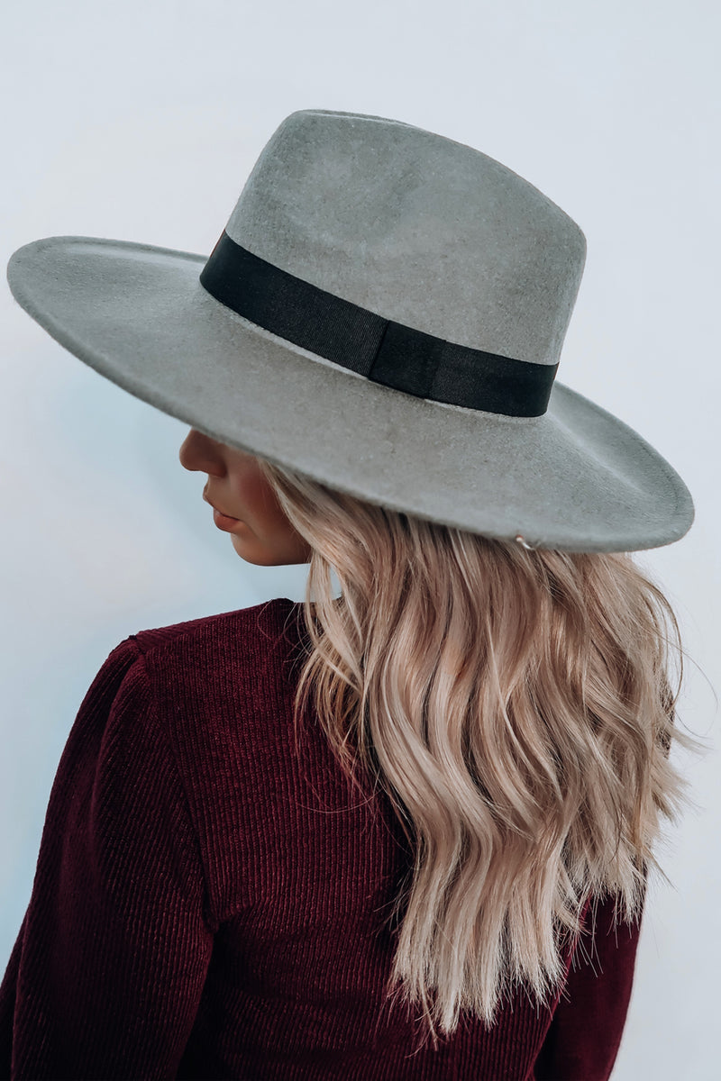 Fall Fun Hat: Grey/Black