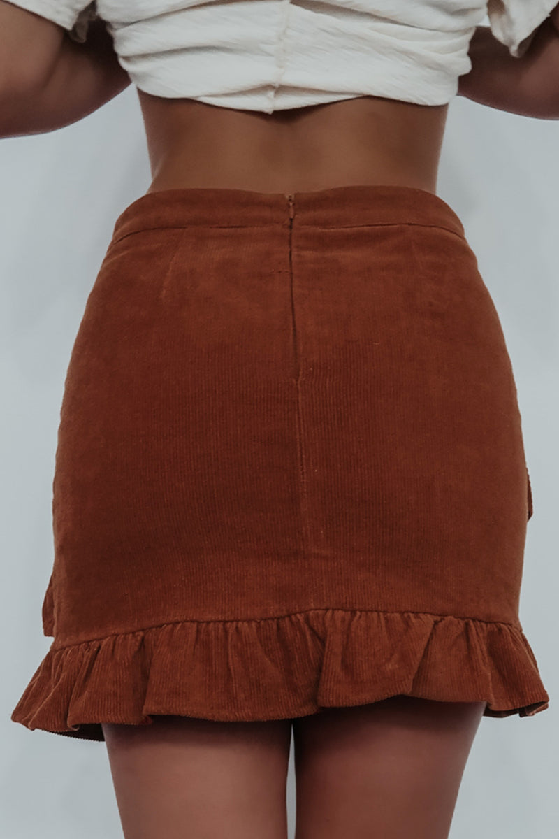 Such A Cutie Skirt: Rust