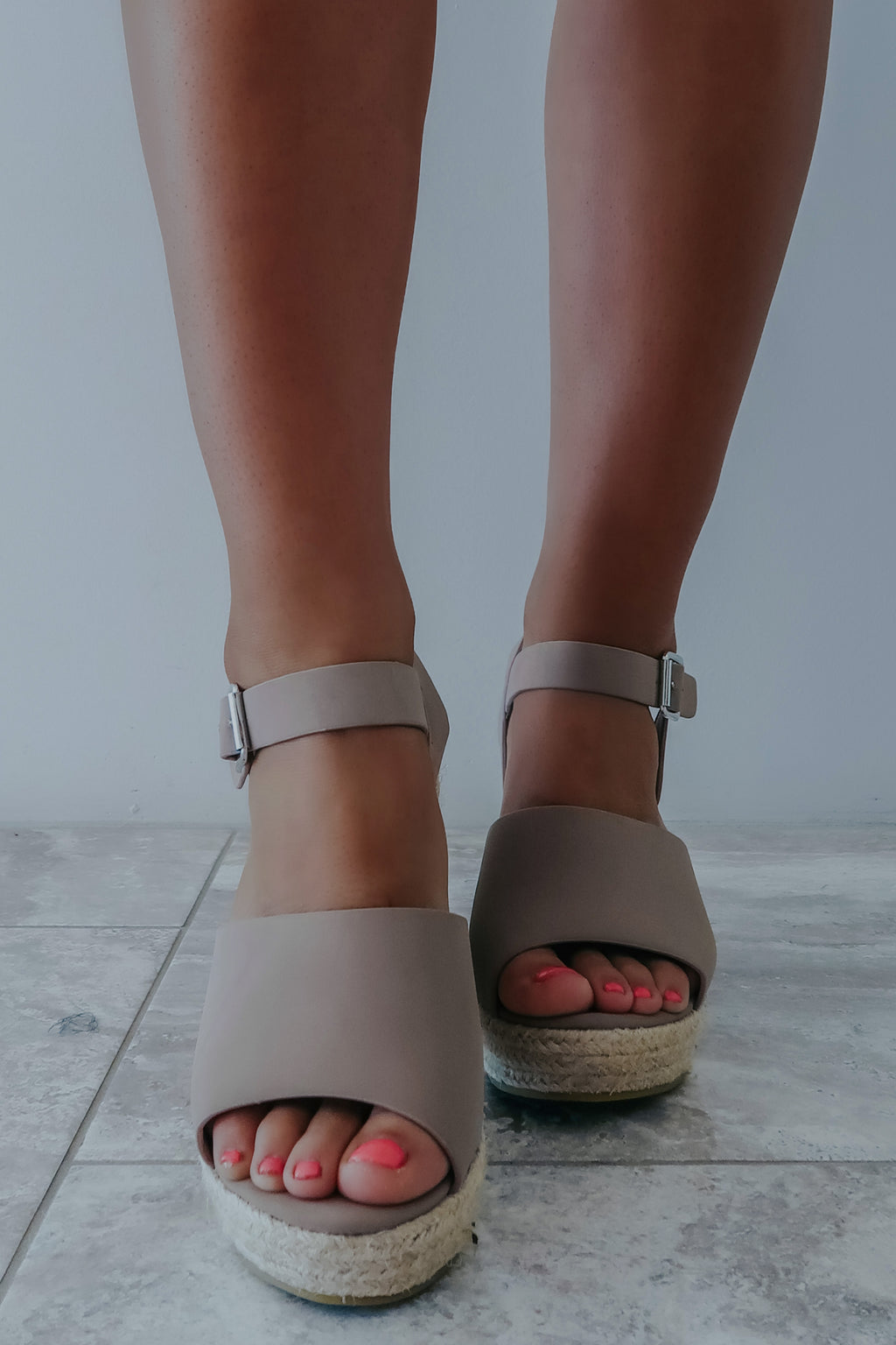 Just You Wait Wedges: Taupe