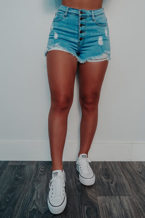Take A Break Shorts: Denim
