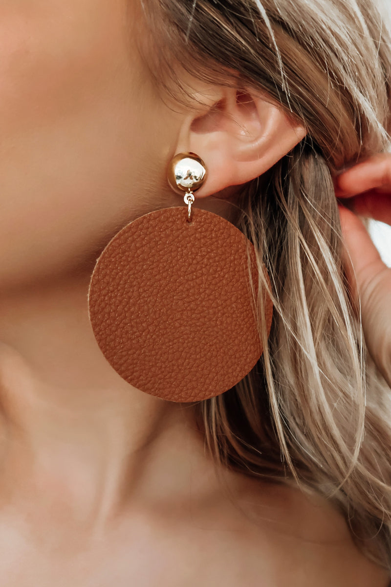 Big Impression Earrings: Brown/Gold