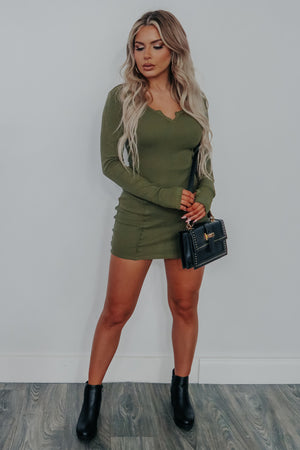 Join The Fun Dress: Olive