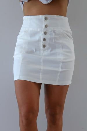 Dearly Loved Skirt: White