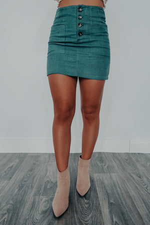 Perfect Place Skirt: Teal